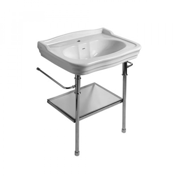 IMPERO lavabo consolle 100X60 c/agujero grifería blanco brillo REF. IMP4C10101 OLYMPIA