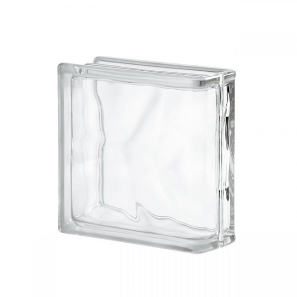 Bloque de Vidrio Lineal Wave 19x19x8cm incoloro