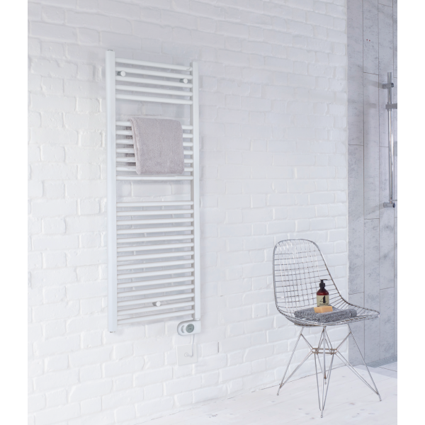 Radiador toallero eléctrico 500W blanco Zehnder swiss