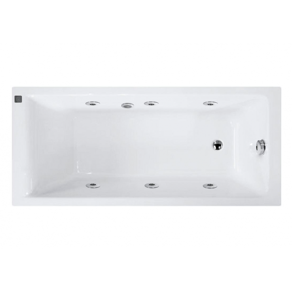 Bañera sanycces bali acrílica en medida 160x70 cm con hidromasaje T confort