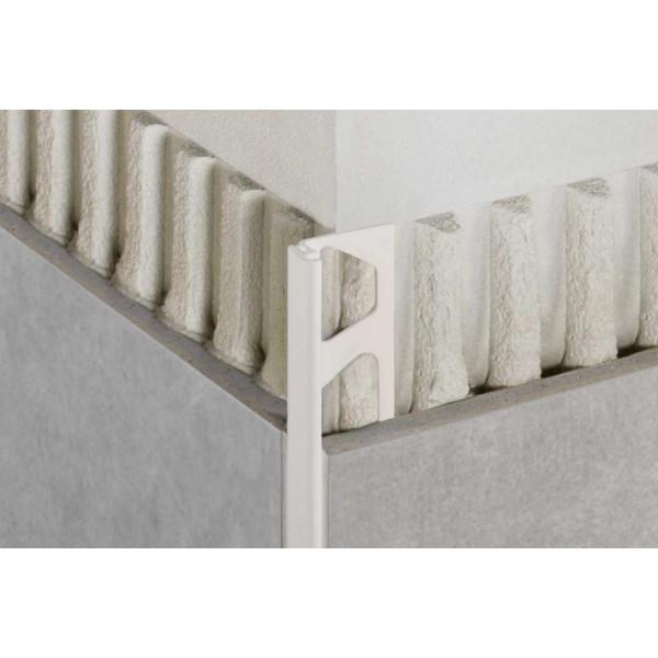 JOLLY-P Cantonera de PVC blanco brillo altura 12,5 mm BW 125
