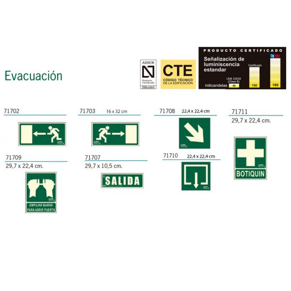 Señalización de Evacuación Homologadas