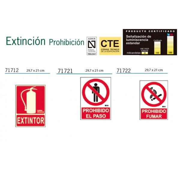 Señalización de Extinción y prohibición Homologadas