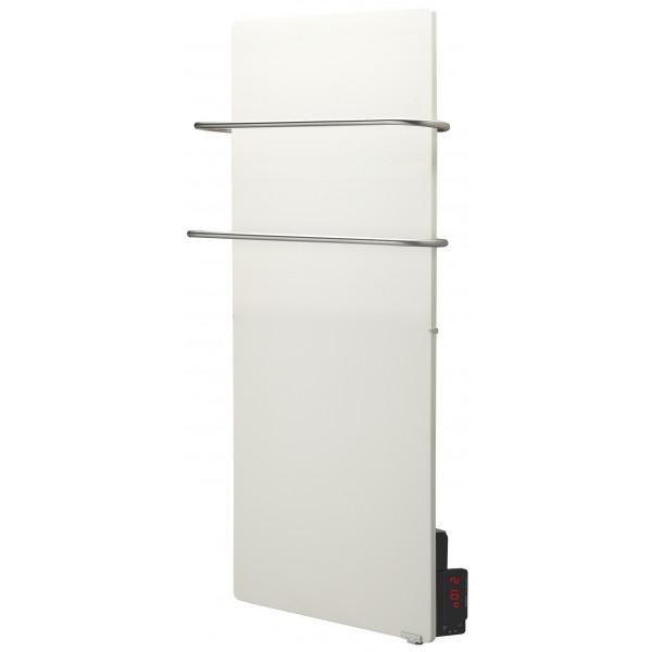 Radiador eléctrico toallero Avant Touch vertical 1300w Blanco Silicio 1000x500x90mm