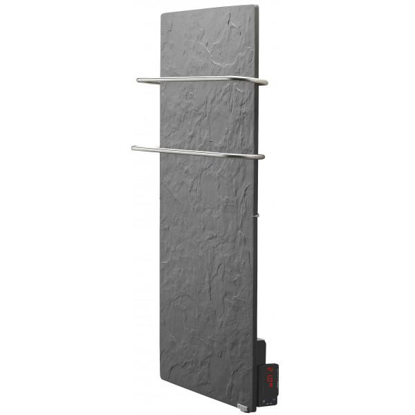 Radiador eléctrico toallero Avant Touch vertical 1300w Pizarra Azabache 1000x500x90mm