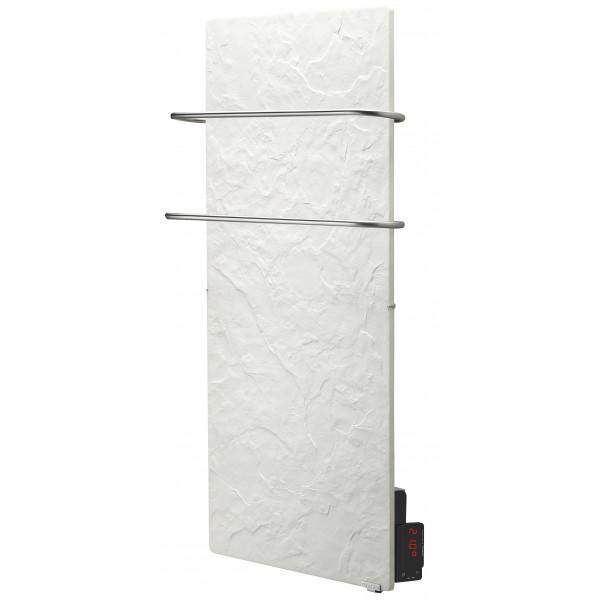 Radiador eléctrico toallero Avant Touch vertical 1300w Pizarra Nieve 1000x500x90mm