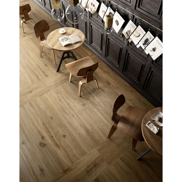 Pavimento TREVERKTREND rovere scuro 25x150cm madera porcelánica Marazzi