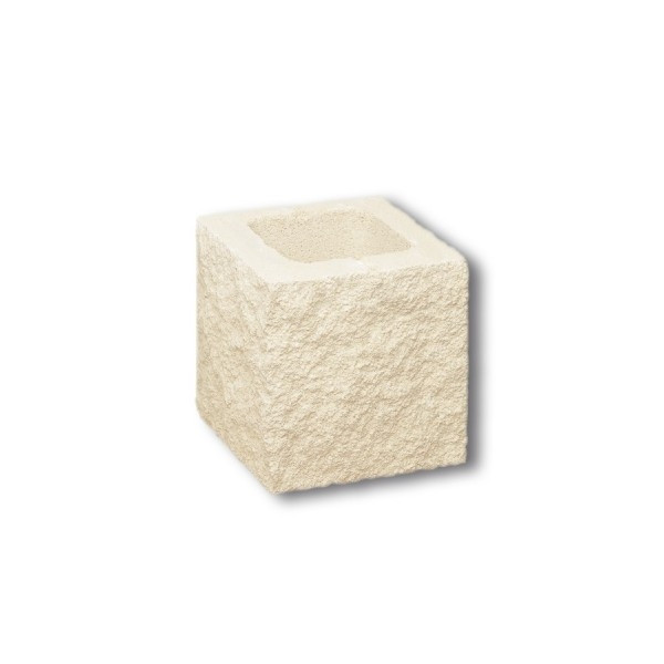 Medio bloque doble Split GANDIA 20x20x20cm Blanco Hidrofugado