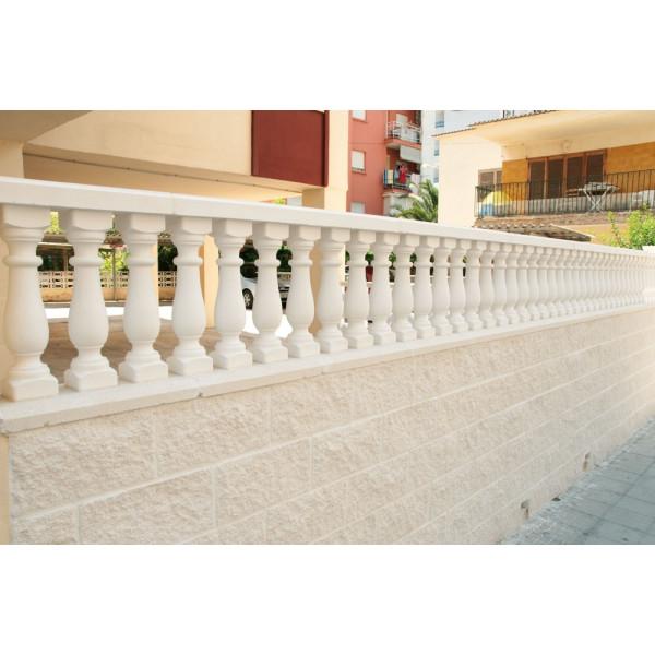 Pasamano ESPARTA 6x15x100cm blanco para balaustre redondo 10x10