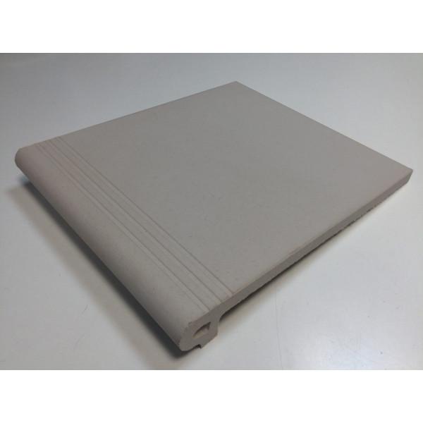 Peldaño IBIZA gris 27,5x32cm gres extrusionado biselado