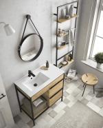VINCI Conjunto mueble de baño 100cm a suelo Salgar