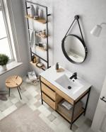 VINCI Conjunto mueble de baño 85cm a suelo Salgar