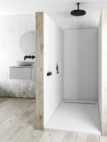 Plato de ducha antideslizante QUORE Solidstone resina textura piedra