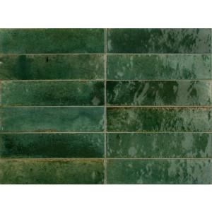 Revestimiento LUME GREEN 6X24cm porcelanico brillo Marazzi Crogiolo