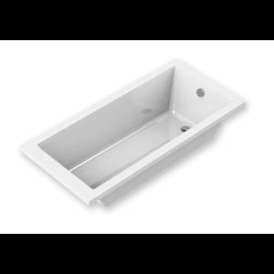 Bañera acrílica Indie blanca lineas rectas y modernas