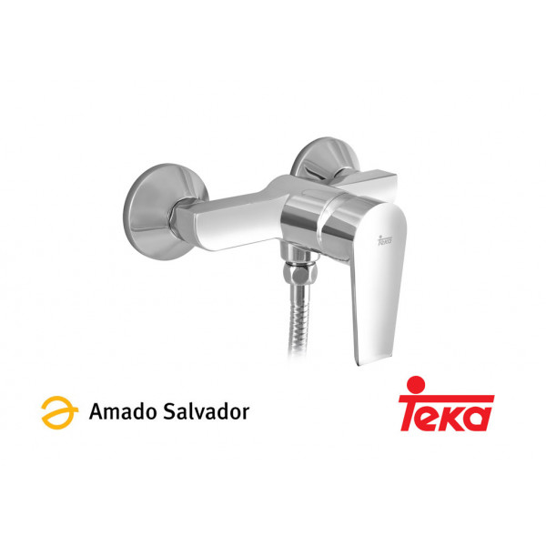 CALVIA mezclador monomando ducha con equipo de ducha cromo Teka