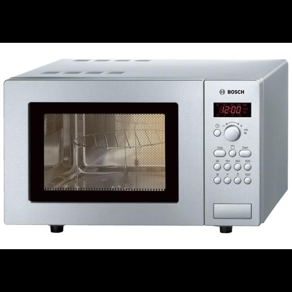 Microondas libre instalación con grill y reloj acero inox Bosch