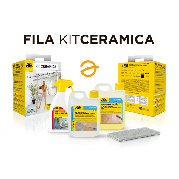 FILA KITCERAMICA mantenimiento y protección ( Deterdek 1L + fugaproof 500ml + Filacleaner 1L)