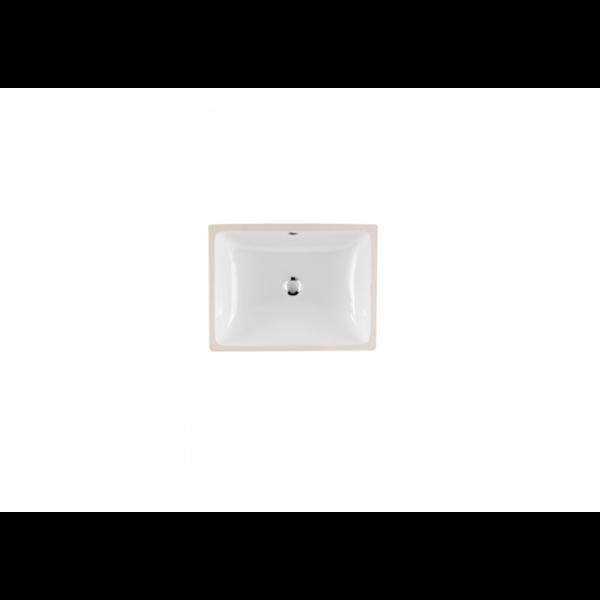 Lavabo bajo encimera blanco rectangular BIAR