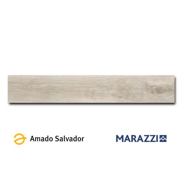Pavimento TREVERKMADE cream 15x90cm madera porcelánica Marazzi