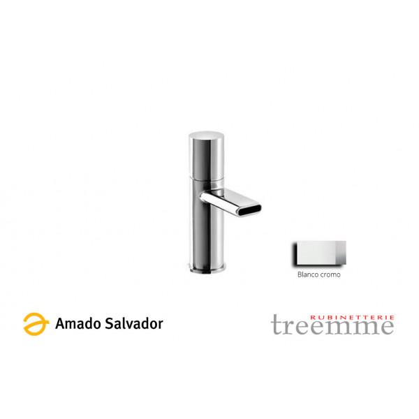 Mezclador Nanotech monomando blanco-cromo para lavabo de 70 cm, diseñado por PHICUBO ALESSANDRA - BERTIN GIANLUCA BELLI