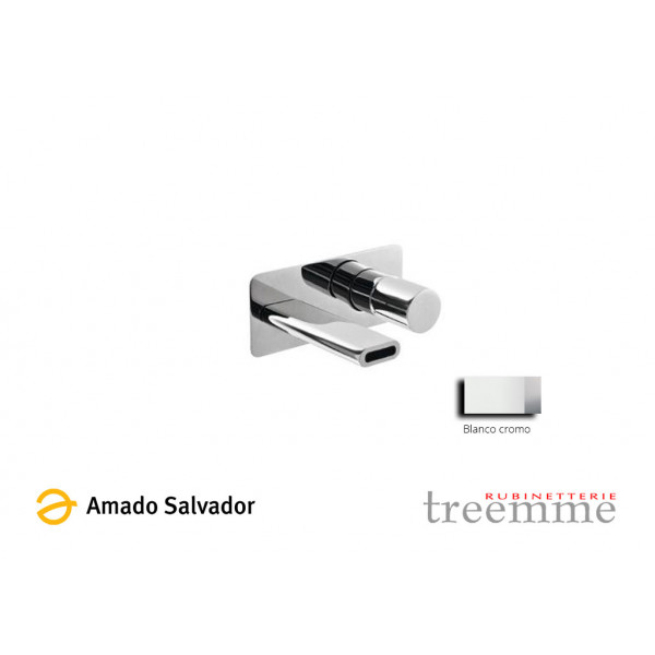 Grifo Mezclador Nanotech monomando cromo pulido blanco para lavabo caño de 165, diseñado por PHICUBO ALESSANDRA - BERTIN GIANLUCA BELLI.