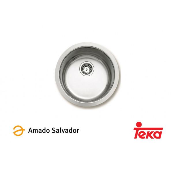Fregadero ERC 1C 1 cubeta d 450 mm sin orificio para grifería Teka