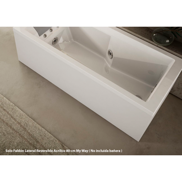 Faldón Lateral Reversible Acrílico blanco de 80 cm para Jacuzzi My Way de 180x80 cm