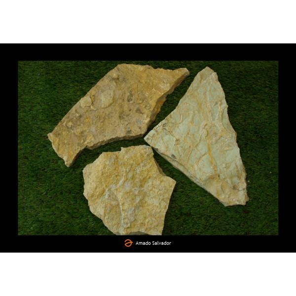 Piedra natural Aragonesa irregular gris pirineos espesor 2-3 cm clase I