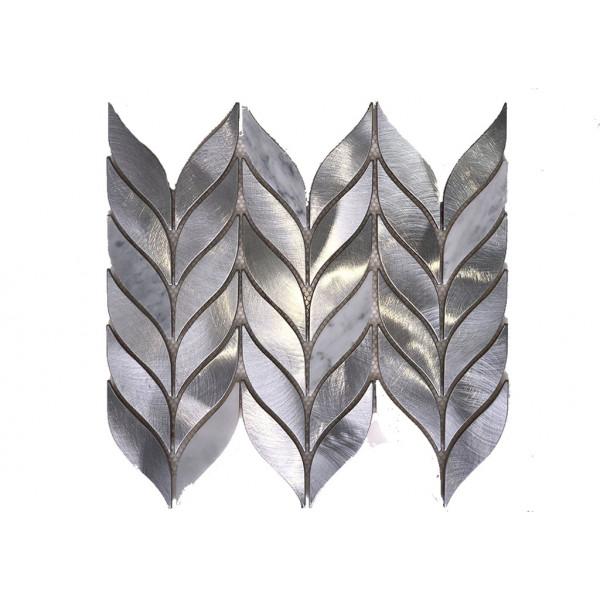 Mosaico enmallado Metal Marble 29x29 cm