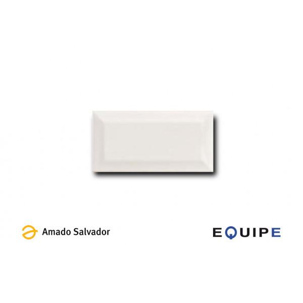 Revestimiento metro blanco mate biselado 7.5x15 cm Equipe