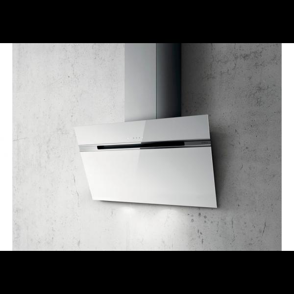 Campana extractora vertical Stripe blanca 90 cm elica