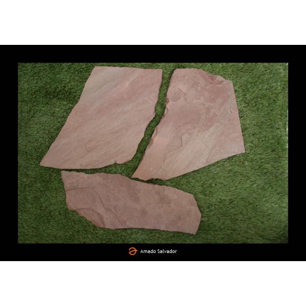 Piedra natural Planchón Rodeno Burdeos espesor 3-4 cm