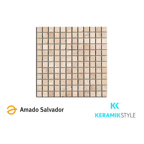 Mosaico enmallado ANTALYA 30,5X30,5CM piedra