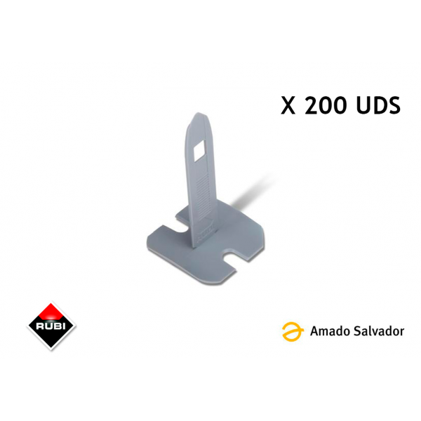 Brida Sistema de nivelación Kit Tile Level Quick Rubi 200 Unds