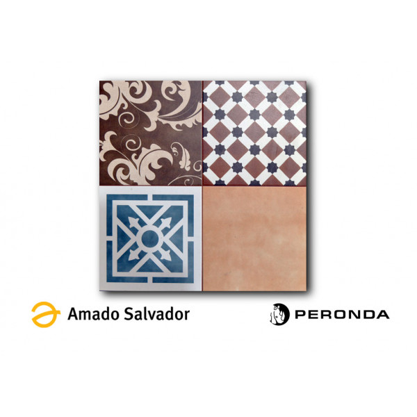 Pavimento STAMFORD 45x45cm gres tipo hidraúlico Peronda