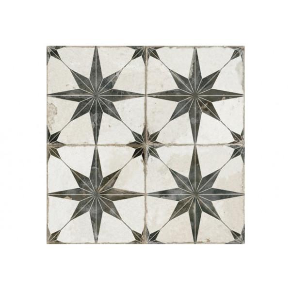 Pavimento FS STAR-N Negro 45X45CM gres DESIGN BY FRANCISCO SEGARRA
