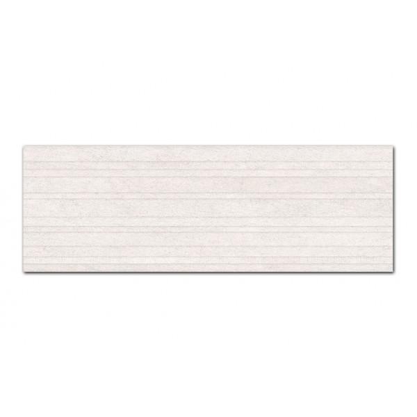 Revestimiento ERTA decor silver 33x100cm pasta blanca Peronda