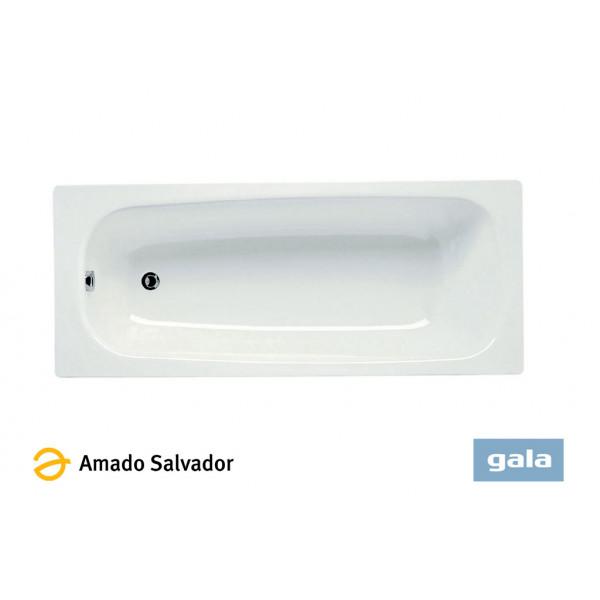 Bañera de acero Fedra blanca 140x70x42cm