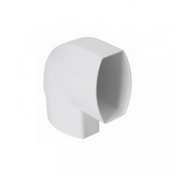 Codo de 90ºC canalon blanco 90x56