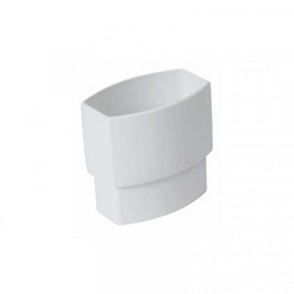 Manguito bajante canalon 90x56 blanco