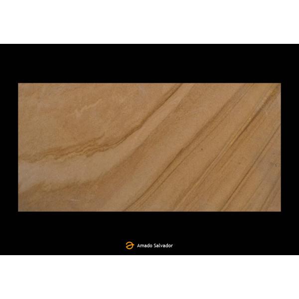 Piedra Natural Arenisca Teak Sand 30x60cm Calibrada Semi-pulida