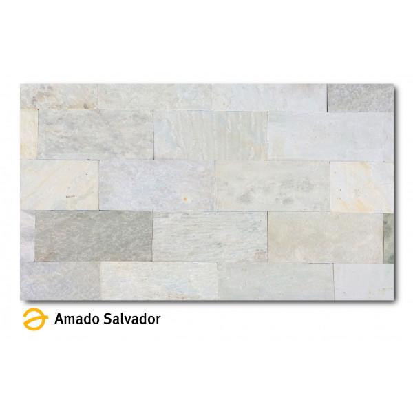 Piedra Natural Pizarra India Semi-calibrada 30x60cm Himachal White