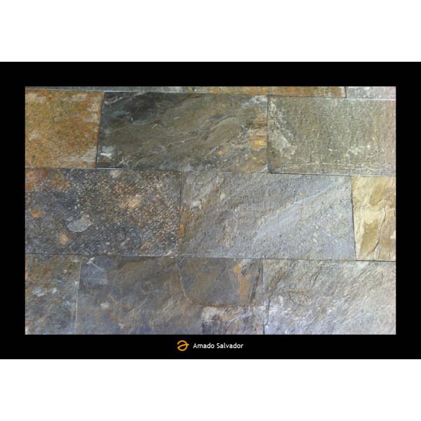 Piedra natural pizarra natural Deoli Green 30x60x1-1.2 Calibrada