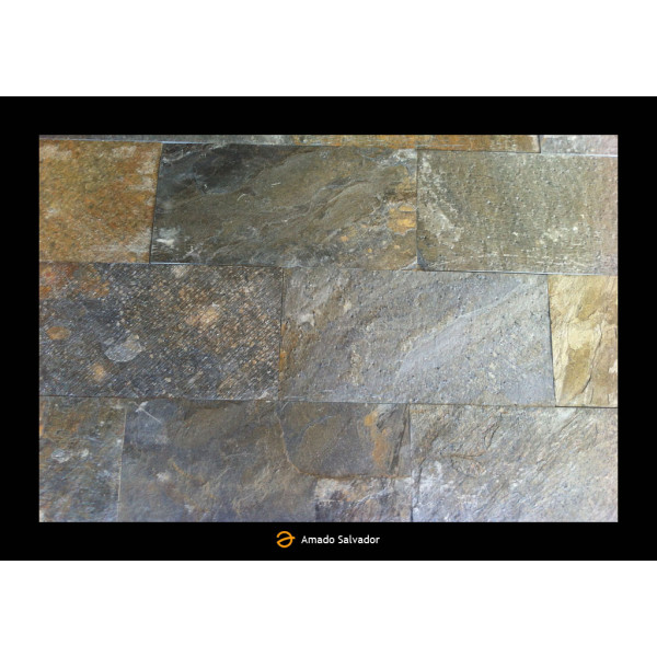Piedra Natural Pizarra India calibrada 30x60cm Deoli Green