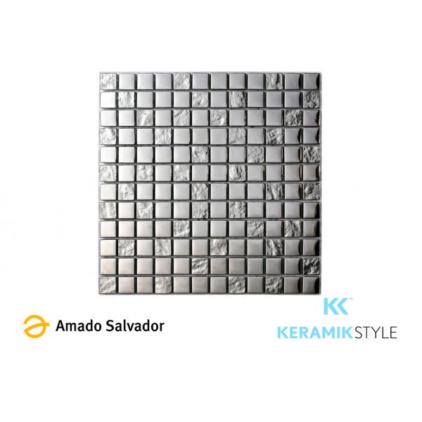 Mosaico enmallado ELEGANCE LUXURY SILVER 30,2X30,2 CM