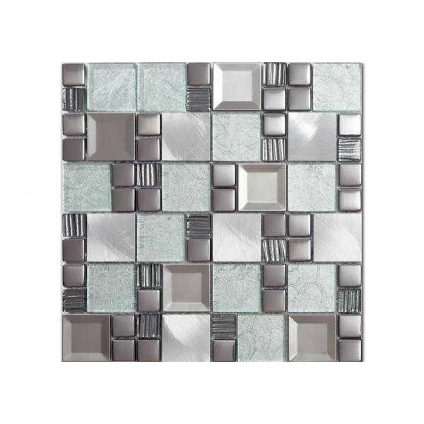 Mosaico enmallado Vitreo KAOS FROZEN 30X30cm