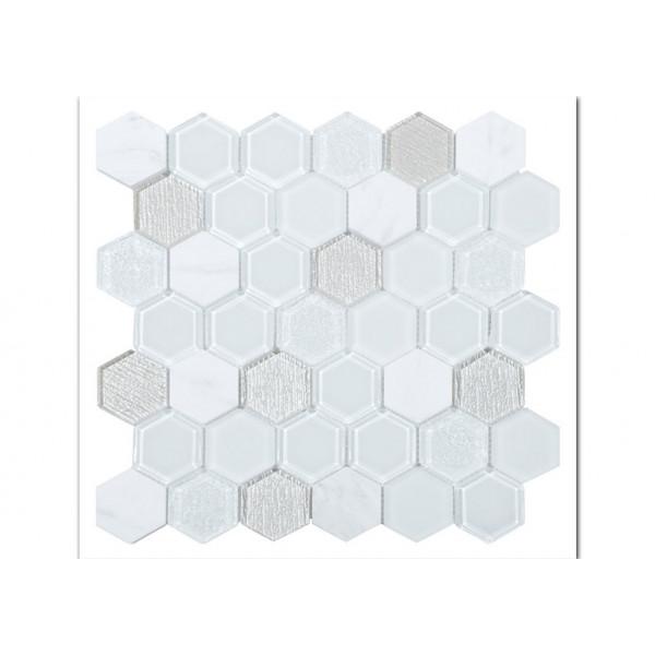 Mosaico enmallado TOUR WHITE 30X30cm