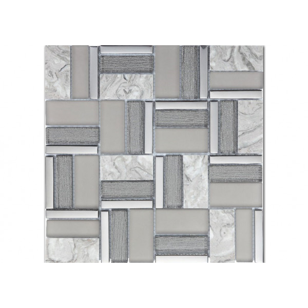Mosaico enmallado TIME GREY 30X30cm