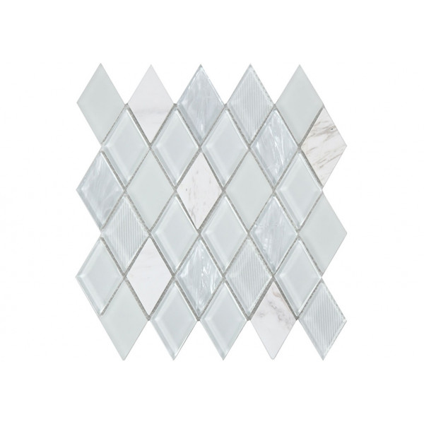 Mosaico enmallado JEWEL White 28,6x31cm